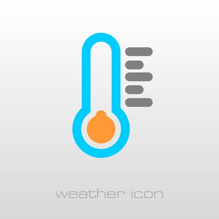 cold weather: Thermometer Cold outline icon. Meteorology. Weather. Vector illustration eps 10