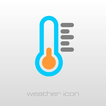 meteorology: Thermometer outline icon. Meteorology. Weather. Vector illustration
