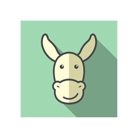 jackass: Donkey icon. Farm animal vector illustration, eps 10 Illustration