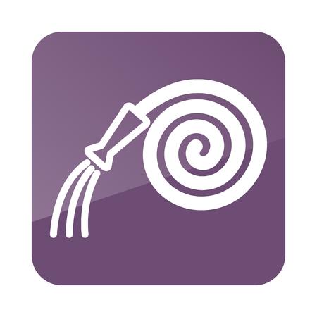 water hoses: Garden Hose icon outline. Farm. Vector illustration