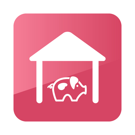 pigsty: Pigsty icon outline. Farm. Vector illustration e