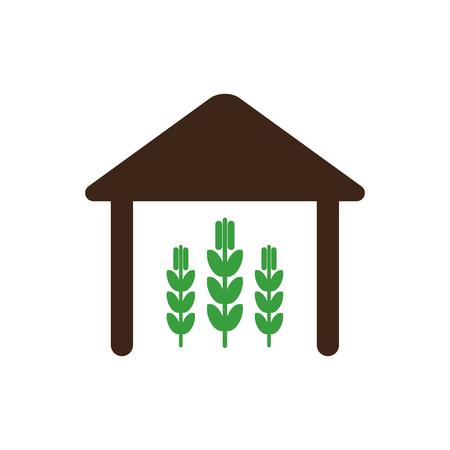 granary: Barn icon outline.