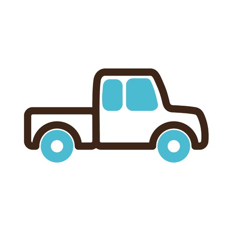 pickup: Pickup truck icon outline.