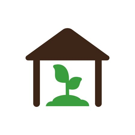 greenhouse: Greenhouse icon outline. Illustration