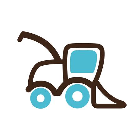 harvester: Combine harvester icon outline.