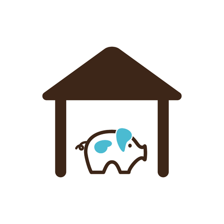 granary: Pigsty icon outline.