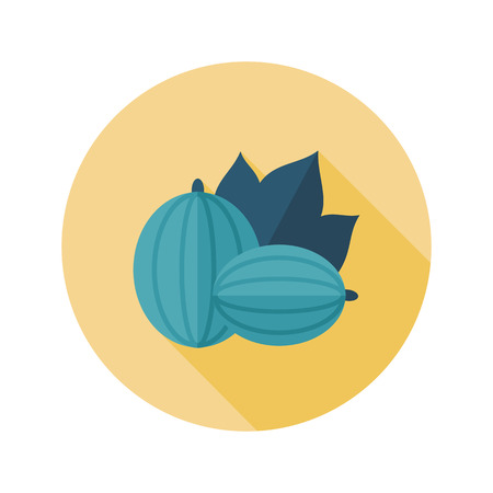 berry fruit: Gooseberry flat icon. Berry fruit.