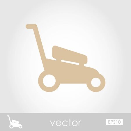 mowers: Lawn Mowers vector icon outline isolated, garden, eps 10