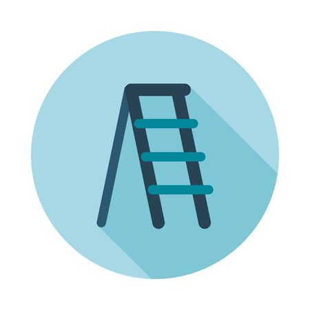 stepladder: Ladder, stepladder, stair, staircase, stairway flat vector icon outline isolated, garden, eps 10