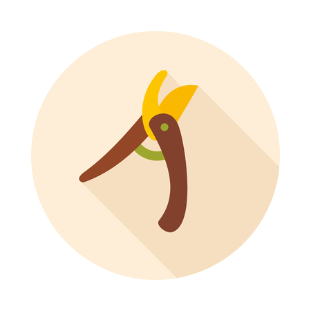 secateurs: Secateurs, pruner, averruncator flat vector icon outline isolated, garden, eps 10