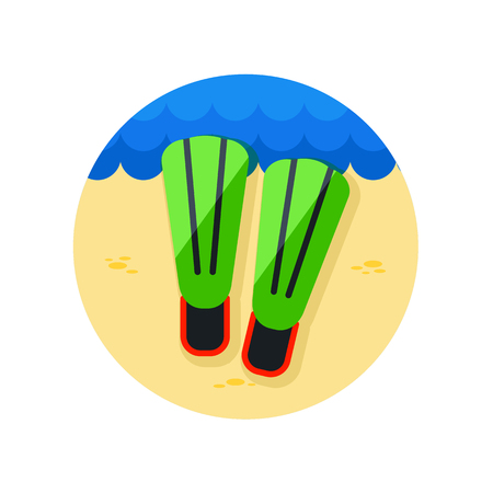 flippers: Flippers vector icon. Beach. Summer. Summertime. Vacation, eps 10 Vectores