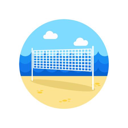volleyball net: Volleyball net beach sport vector icon. Beach. Summer. Summertime.