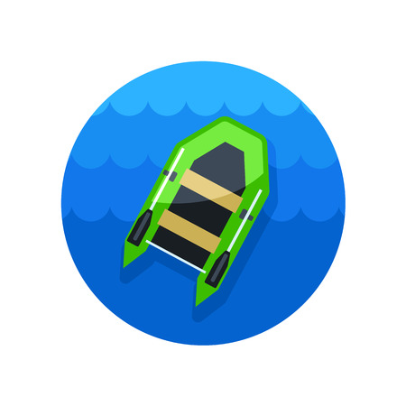 summertime: Inflatable boat vector icon. Beach. Summer. Summertime.