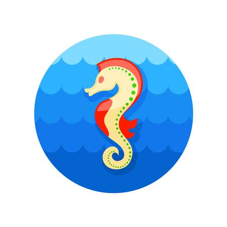 caballo de mar: Caballo de mar de iconos de vectores. Playa. Verano. Verano.