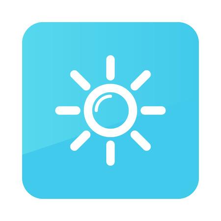 meteorology: Sun outline icon. Meteorology. Weather. Vector illustration