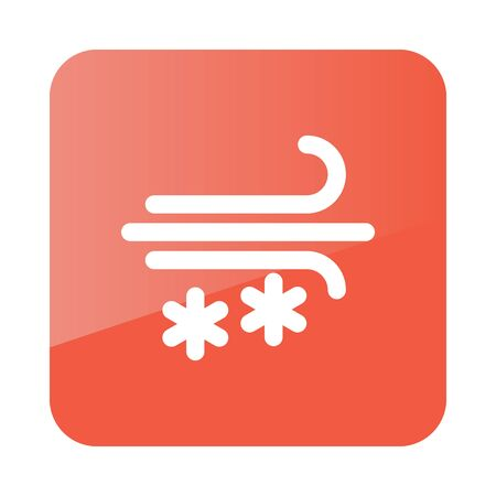snowstorm: Wind Snow Snowstorm outline icon. Meteorology. Weather. Vector illustration