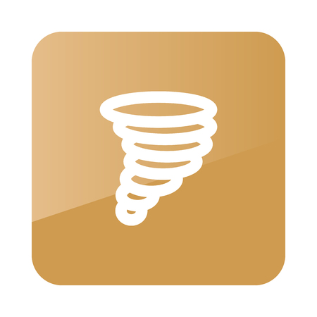 hurricane disaster: Tornado Whirlwind outline icon. Meteorology. Weather. Vector illustration