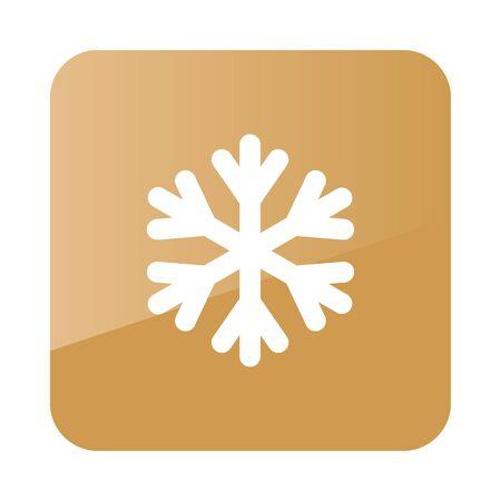 meteorology: Snowflake Snow outline icon. Meteorology. Weather. Vector illustration