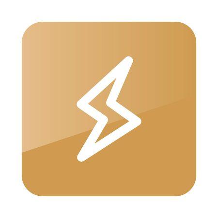meteorology: Lightning outline icon. Meteorology. Weather. Vector illustration