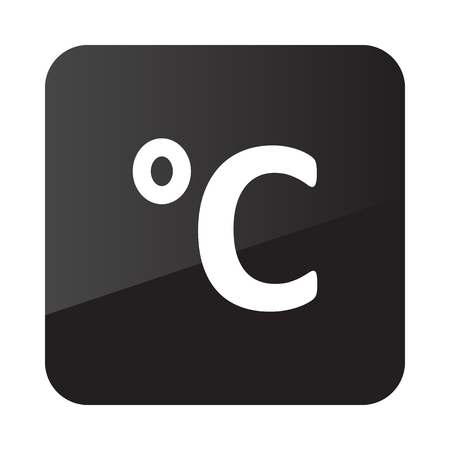 celsius: Degrees Celsius outline icon. Meteorology. Weather. Vector illustration Illustration