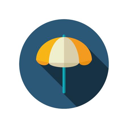 parasol: Beach parasol vector flat icon. Summer. Summertime. Vacation