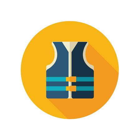 life jackets: Life jacket vector flat icon. Beach. Summer. Summertime. Vacation Illustration