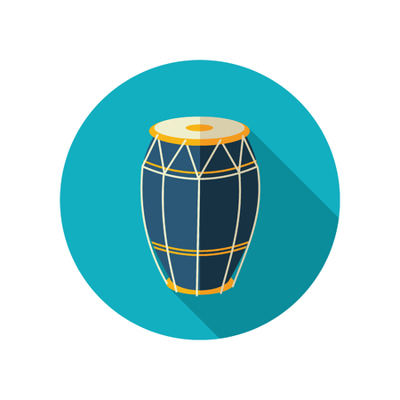 solo: Drum vector flat icon. Beach. Summer. Summertime. Vacation Illustration