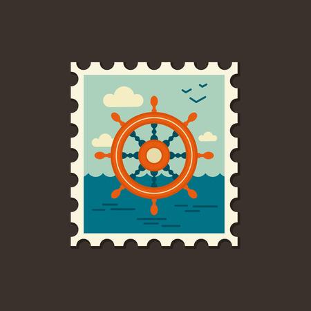 helm: Helm vector icon. Beach. Summer. Marine. Summertime. Vacation, eps 10 Illustration