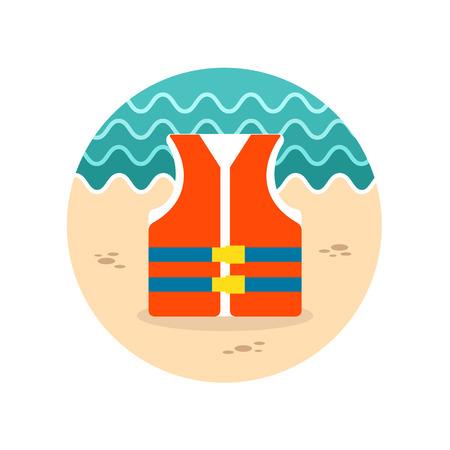 life jacket: Life jacket vector icon. Beach. Summer. Summertime. Vacation, eps 10 Illustration