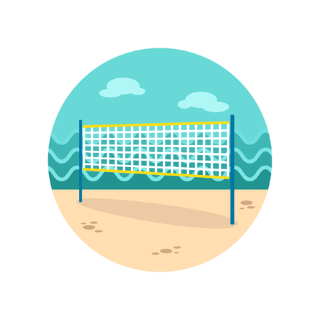 volleyball net: Volleyball net beach sport vector icon. Beach. Summer. Summertime. Vacation, eps 10