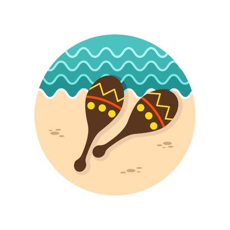 mexico beach: Maracas vector icon. Beach. Summer. Summertime. Vacation, eps 10 Illustration