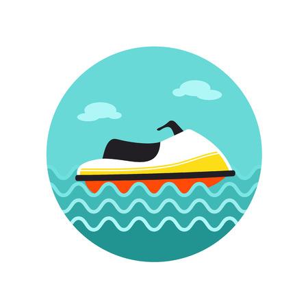 jetski: Jet Ski vector icon. Beach. Summer. Summertime. Vacation, eps 10
