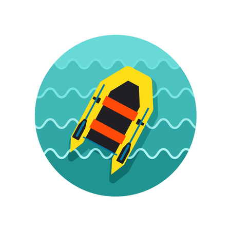 Inflatable boat vector icon. Beach. Summer. Summertime. Vacation, eps 10