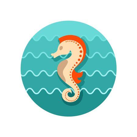 caballo de mar: Caballo de mar de iconos de vectores. Playa. Verano. Verano. Vacaciones, eps 10 Vectores