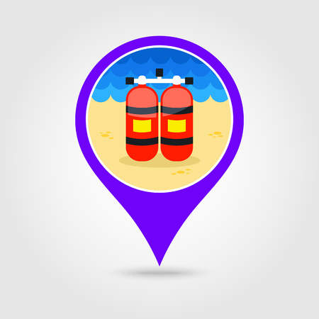 Oxygen Tank Vector Pin Map Icon Royalty Free Cliparts Vectors And