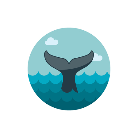 tail: Whale tail vector icon. Beach. Summer. Summertime. Holiday.