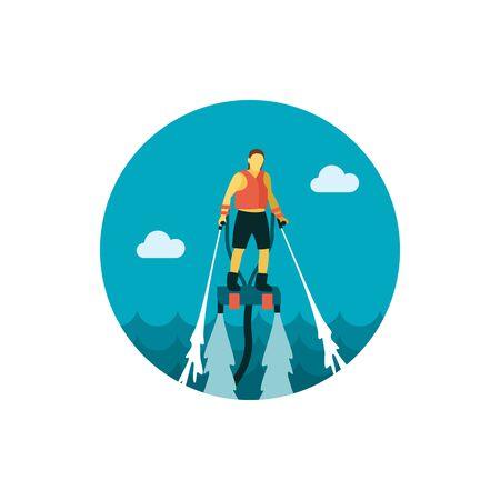 jetpack: FlyBoard FlySurf icon Illustration