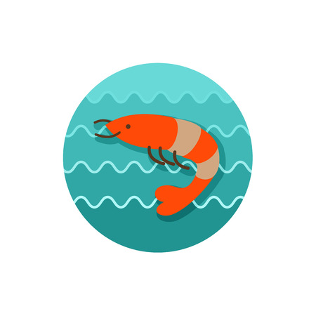 prawn: Shrimp icon. Prawn vector.