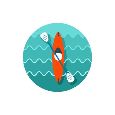 Kayak icon. Canoe vector.