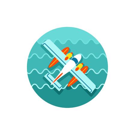 hydroplane: Hydroplane vector icon.