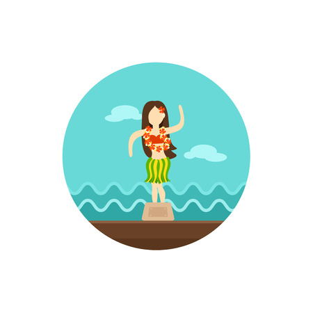 statuette: Hula Dancer Statuette vector icon.