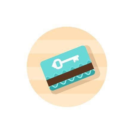 fiestas electronicas: cerradura de tarjeta electrónica icono del vector. Vectores