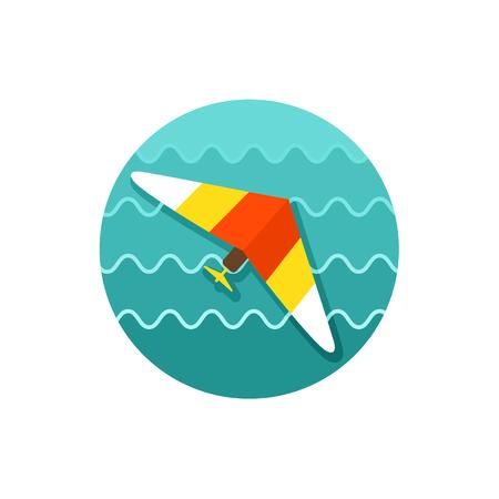 glider: Hang Glider vector icon. Illustration
