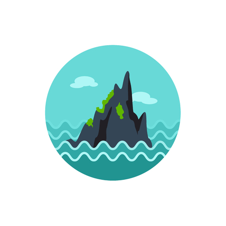 Rocks in the sea vector icon.