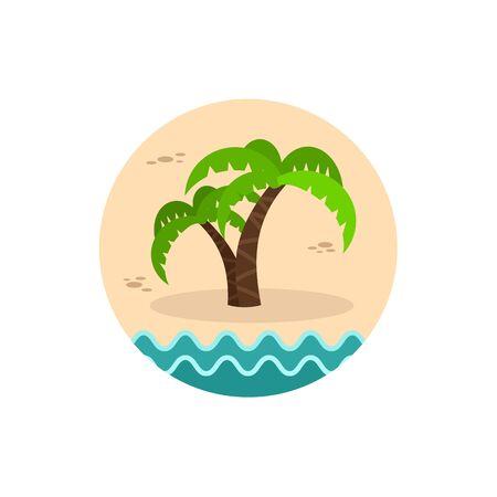 palm tree vector: Palm tree vector icon. Beach. Illustration