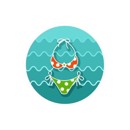 bikini top: Swimsuit vector icon.