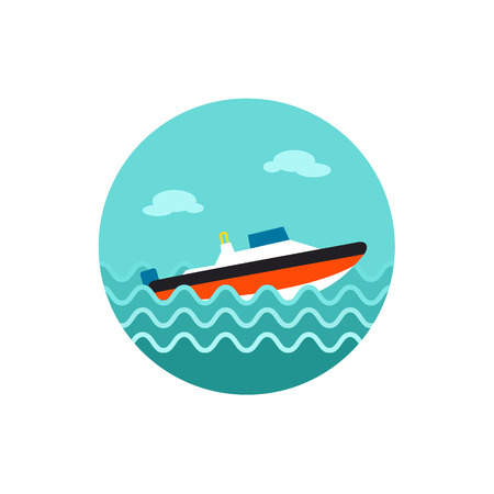 speed: Speed boat vector icon.