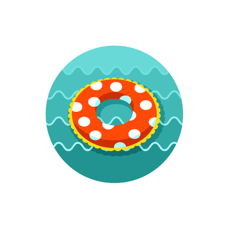 Swimming circle on the water vector icon.