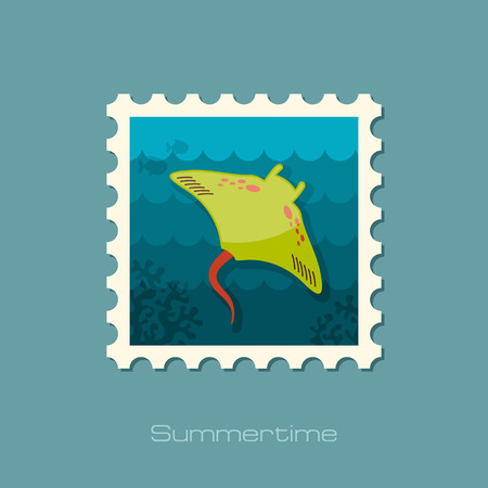 ramp: Ramp fish vector stamp. Beach. Summer. Summertime. Holiday. Vacation, eps 10