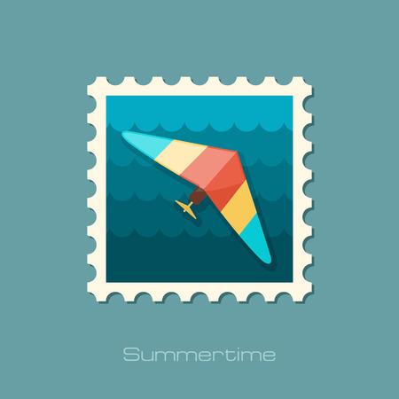 glider: Hang Glider vector stamp.